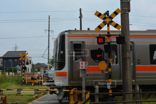 鋼のトラックの列車の写真・画像素材[1064931]