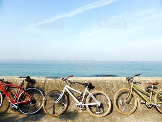 淡路島でサイクリングの写真・画像素材[1093899]