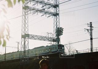 橋を渡る列車の写真・画像素材[1066134]