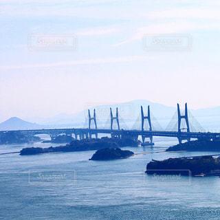山の上から見た瀬戸大橋の写真・画像素材[1066988]
