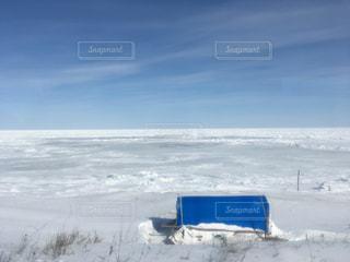 流氷の海岸の写真・画像素材[1072351]