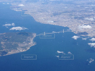 上空からの明石大橋の写真・画像素材[1067747]