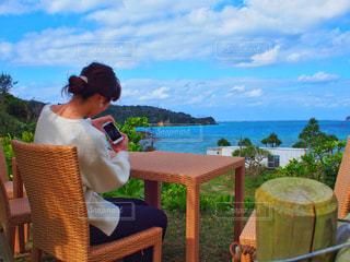 沖縄の海を撮影の写真・画像素材[1067061]