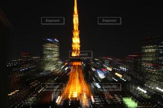 東京タワーの夜景の写真・画像素材[1067164]