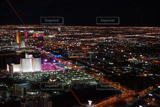 ラスベガスの夜景の写真・画像素材[1067249]