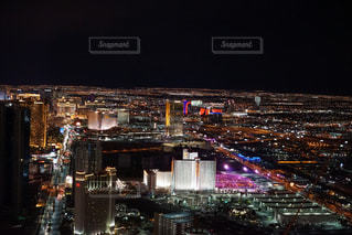 ラスベガスの夜景の写真・画像素材[1067252]
