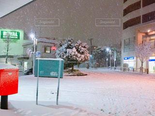 雪の日の宮前平駅の写真・画像素材[1074774]