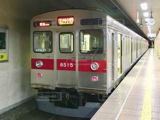 長野電鉄に再利用される東急田園都市線の車両の写真・画像素材[1080425]