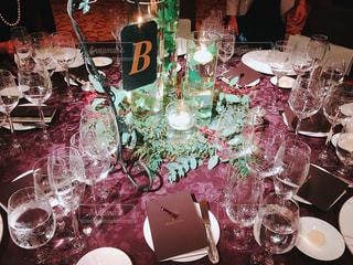 結婚披露宴のテーブルの写真・画像素材[1080546]