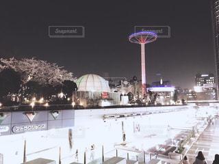 東京ドームシティの夜景の写真・画像素材[1085653]
