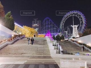 東京ドームシティの夜景の写真・画像素材[1085655]