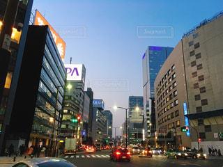 赤坂の道路とビルの写真・画像素材[1092367]