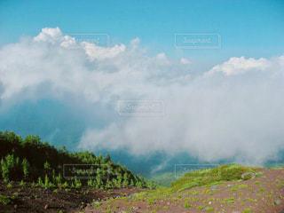 富士登山の光景の写真・画像素材[1096403]