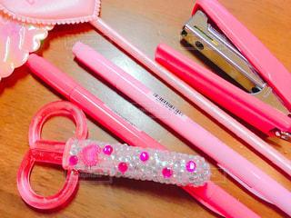 ピンクの文房具 - No.1096468