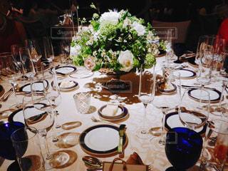 披露宴のテーブルの写真・画像素材[1105029]