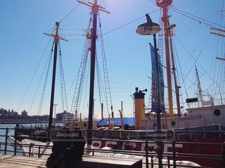 サウスストリートシーポートの大型船の写真・画像素材[1128581]