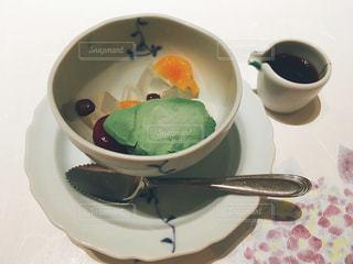 あんみつと抹茶アイスの写真・画像素材[1239316]