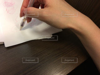 インク切れのペンの写真・画像素材[1504367]