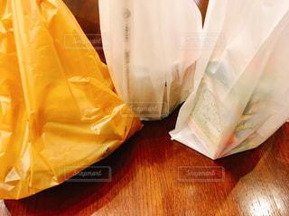 小分けされたレジ袋の写真・画像素材[1614750]