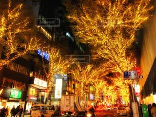 渋谷宮益坂のイルミネーションの写真・画像素材[1674776]