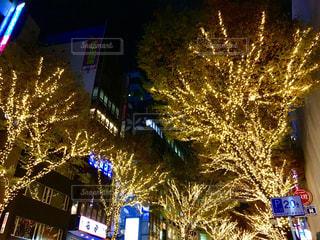 渋谷宮益坂のイルミネーションの写真・画像素材[1674778]