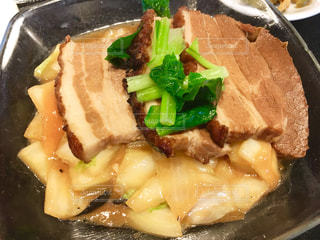 中華料理屋さんの豚の角煮の写真・画像素材[1736972]