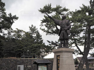 堀尾吉晴/松江城/島根県松江市の写真・画像素材[1801502]
