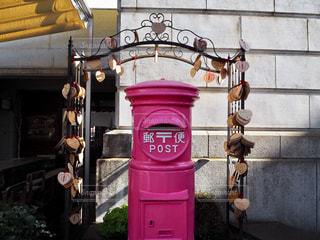 ピンクの幸運のポストの写真・画像素材[1801603]
