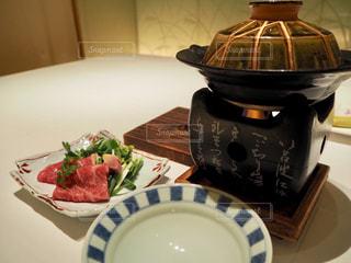 宙SORAのお料理ー火の物は静岡育ちの黒毛和牛のお鍋の写真・画像素材[1809149]