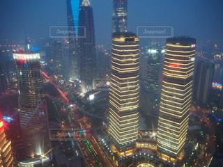 上海明珠塔からの夜景の写真・画像素材[1813580]