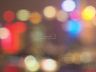 上海の夜景、大きめの玉ボケです。の写真・画像素材[1816075]