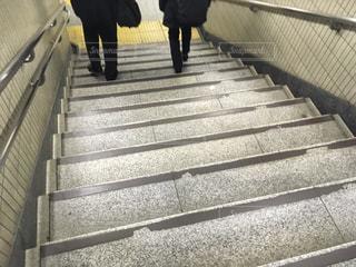 地下鉄の階段の写真・画像素材[2042545]