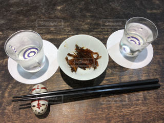 日本酒バーの飲み比べセットの写真・画像素材[2281818]