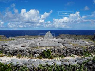 波照間島の石碑の写真・画像素材[2390198]