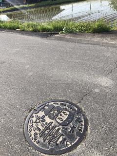 伊賀市のマンホールの写真・画像素材[3224886]
