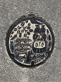 伊賀市のマンホールの写真・画像素材[3224887]