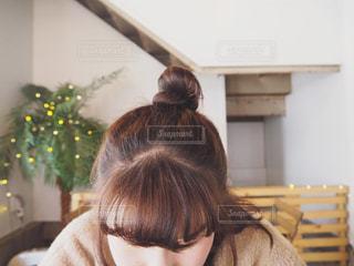 カフェでまったりとしてる時間の写真・画像素材[1067941]