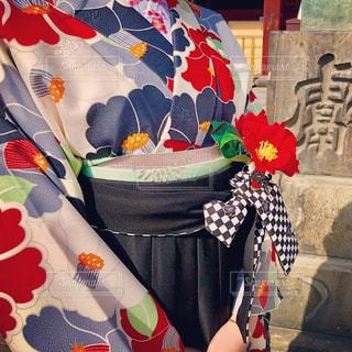 袴姿の女の子の写真・画像素材[1068795]