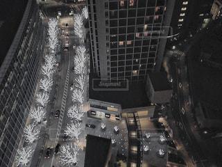 夜景_東京_けやき坂イルミネーションの写真・画像素材[1069412]