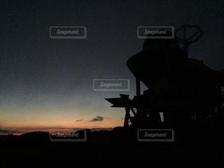 夕暮れの天文台の写真・画像素材[1069502]