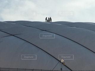 東京ドームのメンテナンスの写真・画像素材[1071120]