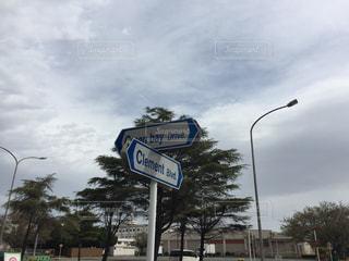 米軍基地内の道路名標識です。の写真・画像素材[1116240]