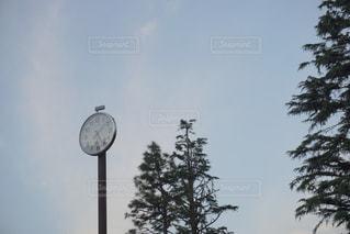 帰り道の時計台の写真・画像素材[2088288]