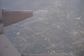 飛行機から見た景色の写真・画像素材[2089100]