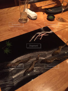 京料理。鮎の塩焼き。の写真・画像素材[1072095]