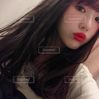 クローズ アップ撮影、selfieの写真・画像素材[1072244]