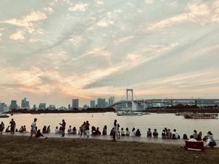 都会の夕暮れの写真・画像素材[2258455]