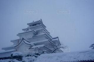 雪の城の写真・画像素材[1073739]