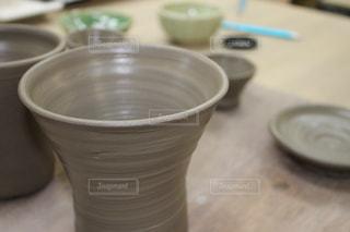 陶芸で作ったカップの写真・画像素材[1083757]