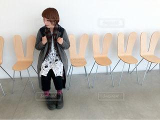 うさぎの椅子の写真・画像素材[1075385]